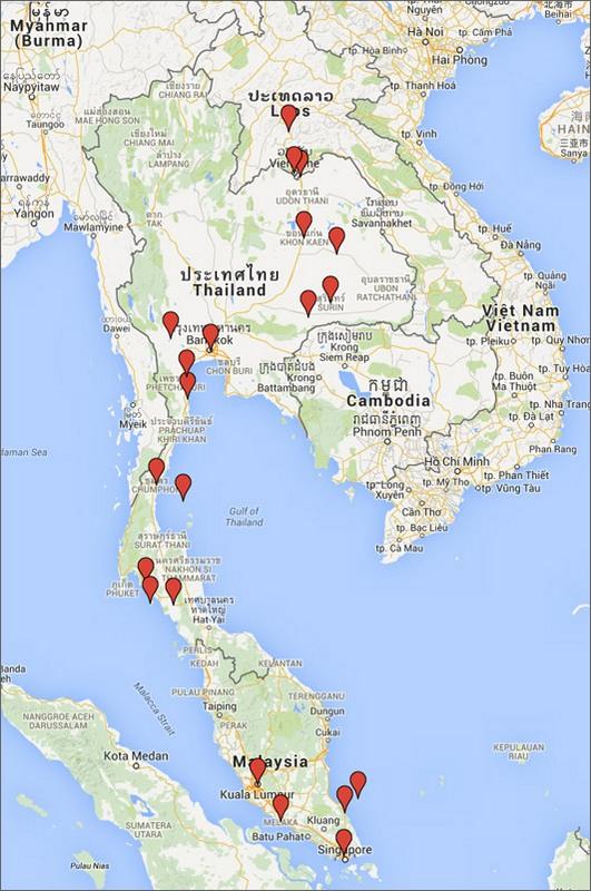 Karta Indien Thailand.Kartor