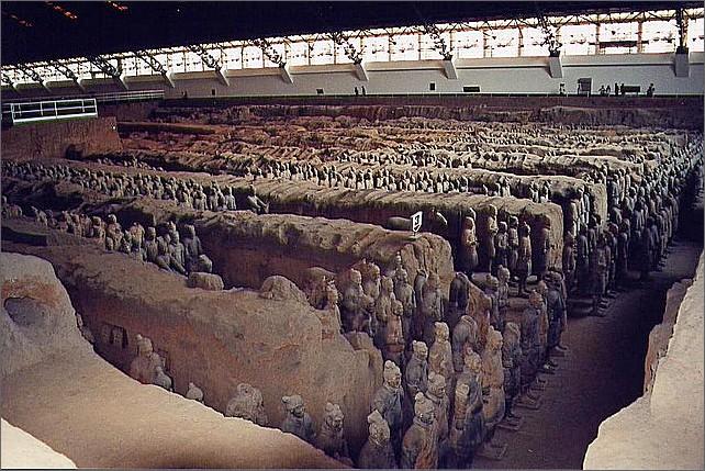 Terrakottaarmén, Xian. Terracotta Army.