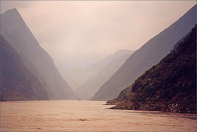 Yangtzefloden, Kina. Yangtze River, China.