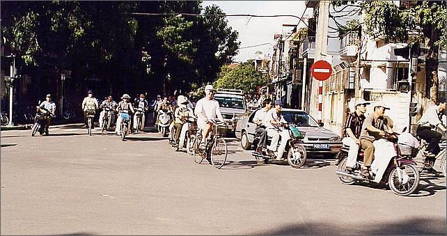 Cykling, Hanoi, Vietnam.
