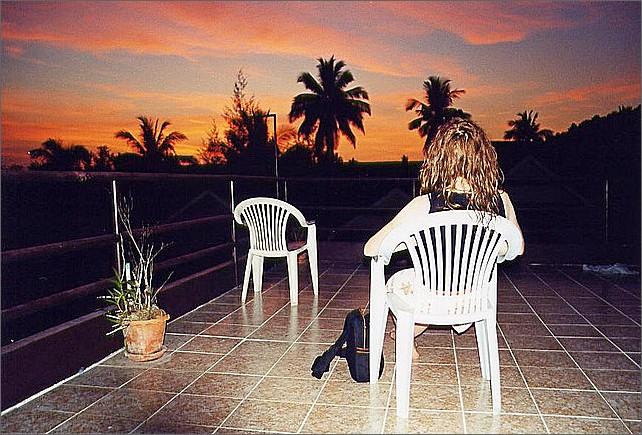 Solnedgång, Ao Nang, Thailand, sunset.