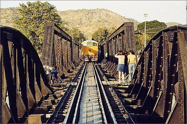 Death Railway Bridge, Kanchanaburi, Thailand.