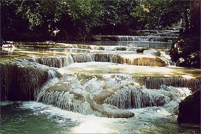 Erawan Waterfalls, Thailand.