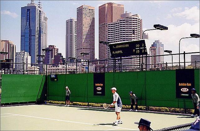 Thomas Johansson, Australian Open, Melbourne, Australia.