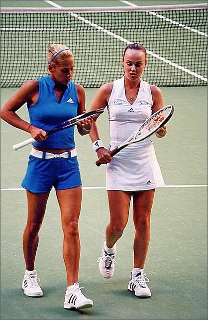 Anna Kournikova, Martina Hingis, Australian Open, Melbourne.