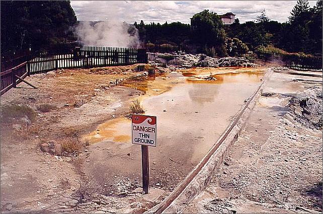 Waiotapu Thermal Wonderland, Rotorua, New Zealand.