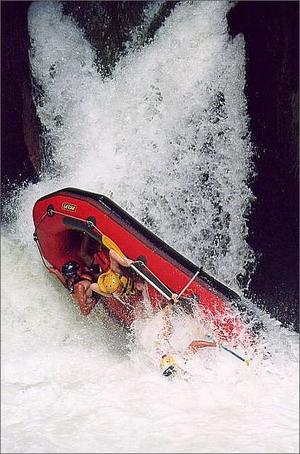 Rafting, Kaituna River, New Zealand.