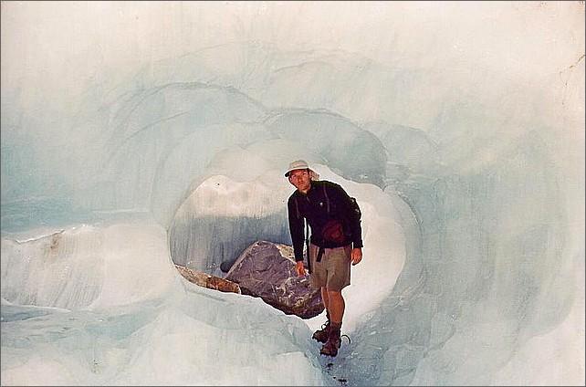 Walking, Ice Cave, Franz Josef Glacier, New Zealand.