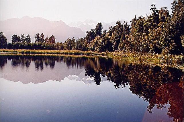 Lake Matheson, New Zealand.