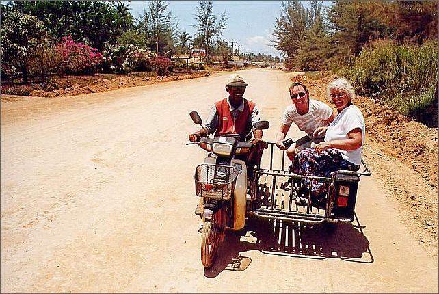 Motorbike taxi, Ko Lanta, Thailand.