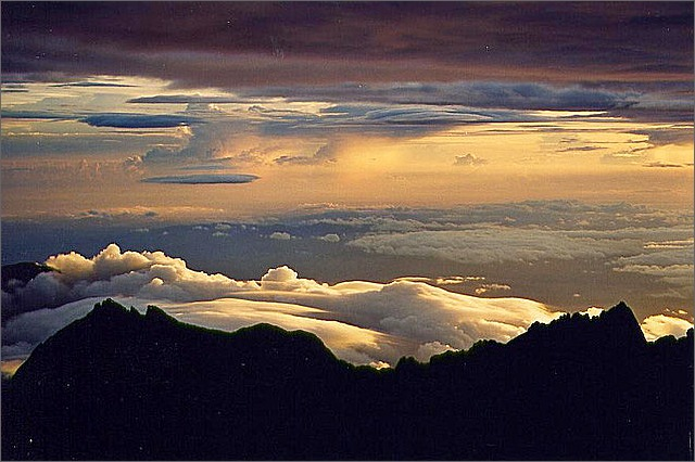 Sunrise, Mount Kinabalu, Borneo, Malaysia.