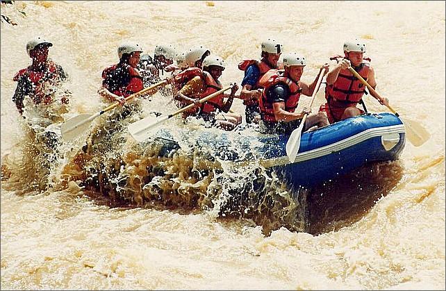 Rafting, Padas River, Borneo, Malaysia.