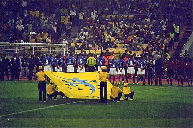 Brasilianska fotbollslandslaget, Kuala Lumpur, Malaysia.