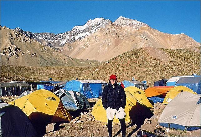 Jag i Camp Confluencia 3300 meter.