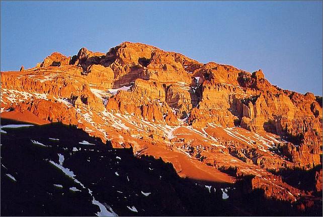 Solnedgång över Aconcagua.
