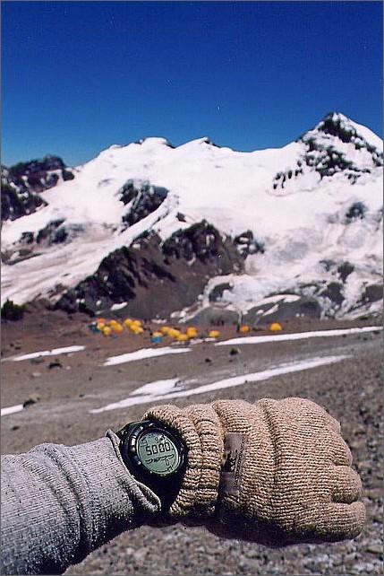 Jag på 5000 meter strax ovanför Camp 1 Canada 4900 meter.