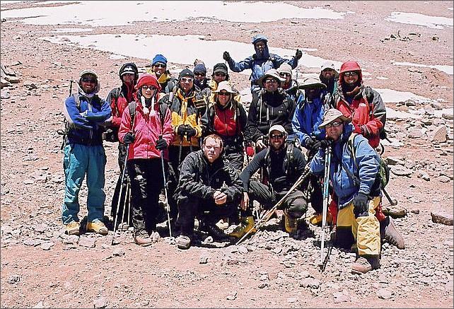 Gruppen i Camp Canada. Längst ner från vänster: Jag, Pablo, David.