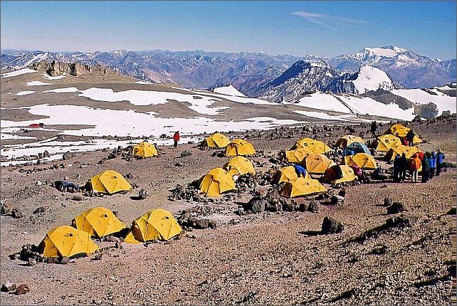 Camp 2 Nido de Condores 5400 meter.