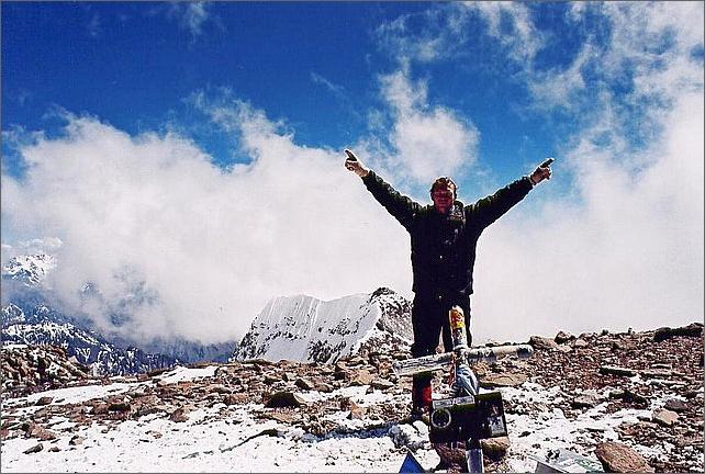 Jag på toppen av Aconcagua 6962 meter.
