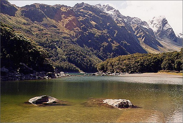 Lake Mackenzie, Routeburn Track, New Zealand.