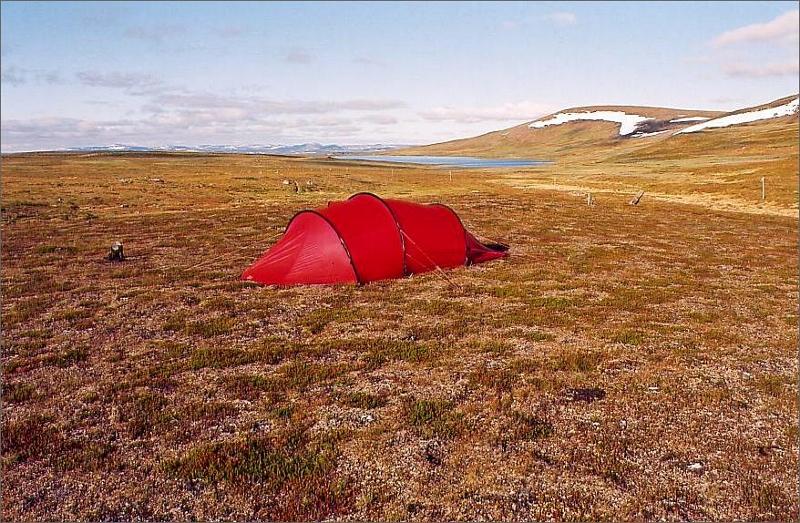 6. Camping några mil efter Ammarnäs.