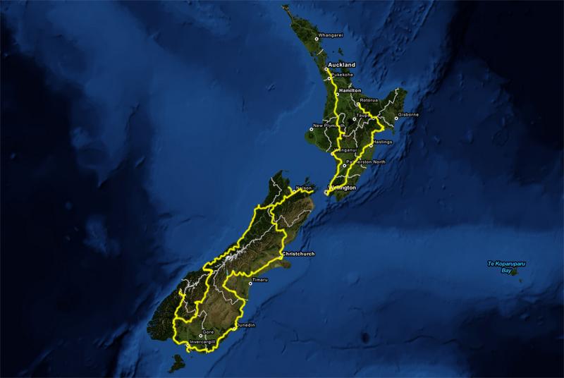 Cyklad väg Auckland - Rotorua 4674 km på 173 dagar. Avbrott: Båt mellan Nord och Sydön två gånger. Båt tur och retur Stewart Island där jag visserligen inte cyklade något.