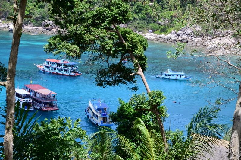 Mango Bay på norra Ko Tao.