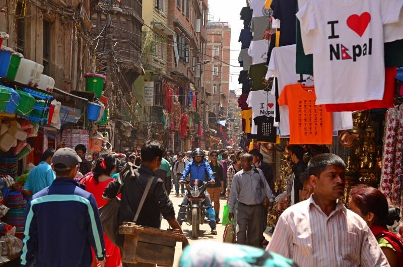 Folkmyller i Kathmandu, Nepal.