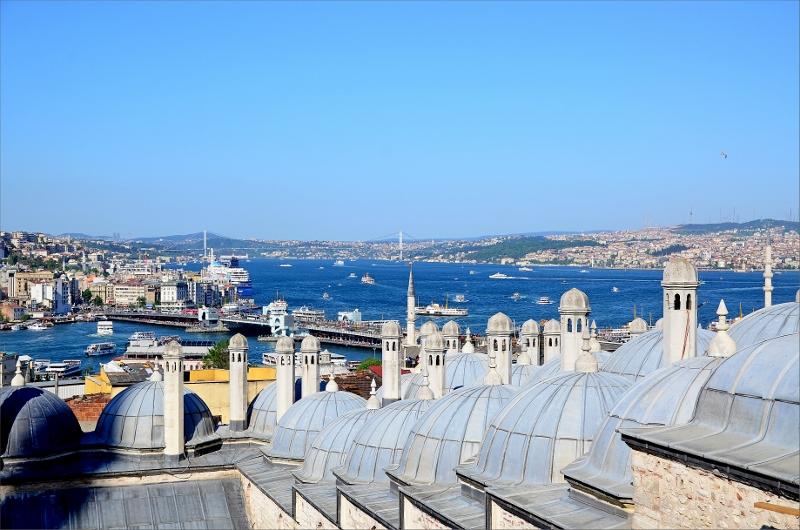 Bosporen sett från Suleymaniye Mosque.