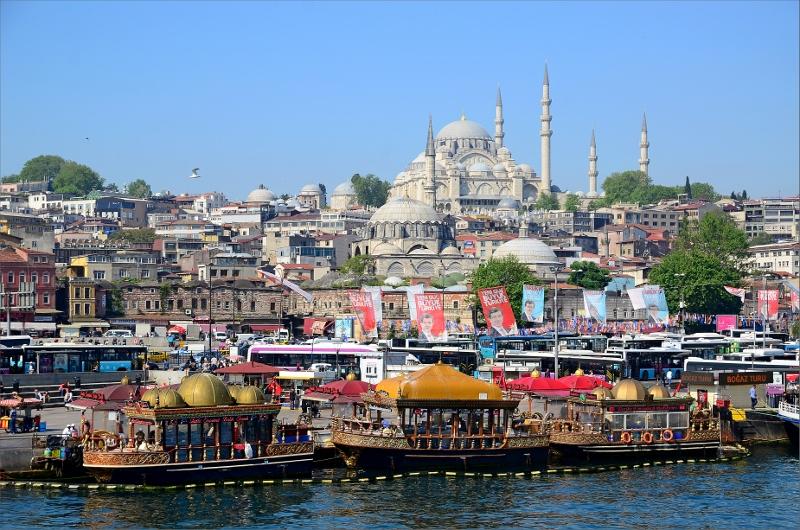 Suleymaniye Mosque är Istanbuls största moske.