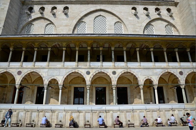 Fottvätt vid Suleymaniye Mosque.