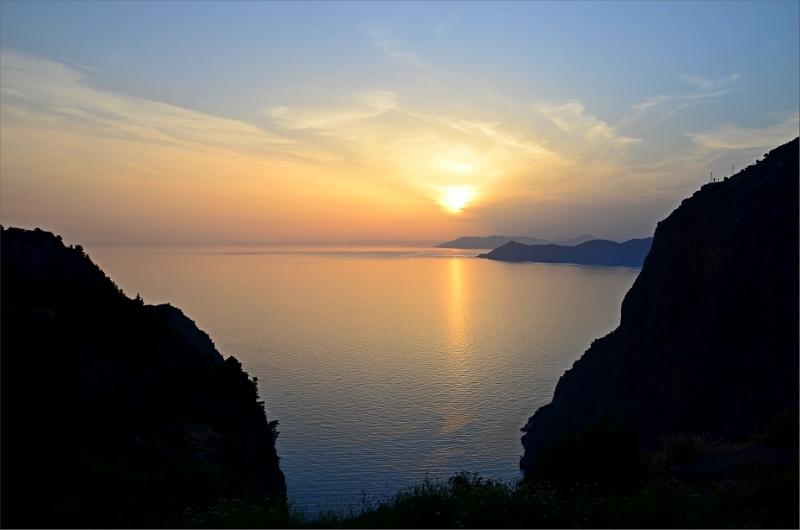 Solnedgång i Faralya.