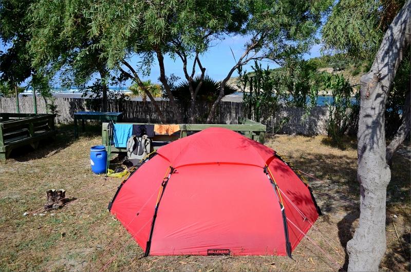 Camping bakom Patara Beach.