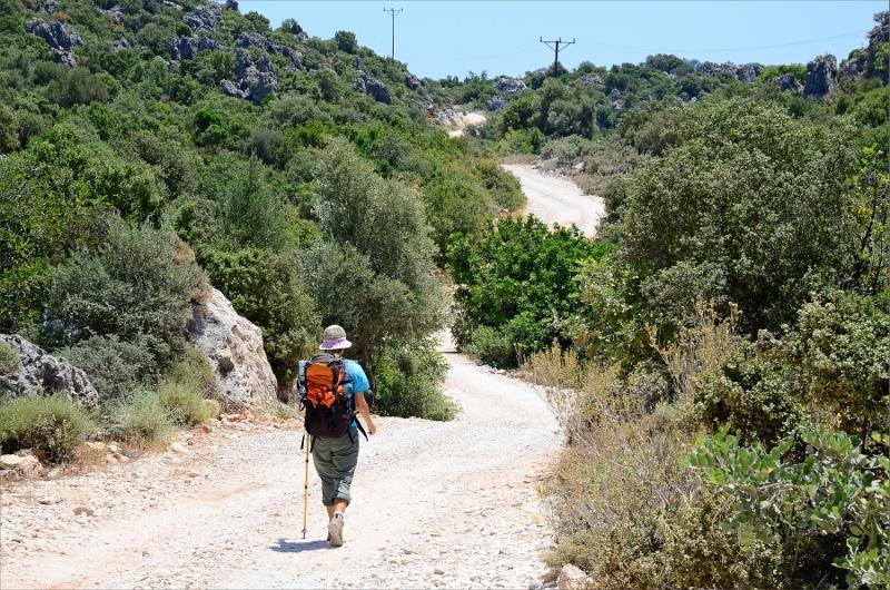 Grusväg mellan Ucagiz och Kaleköy.
