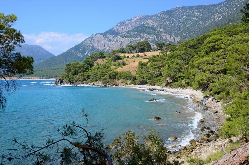 Vy bakåt längs kusten mot Karaöz.