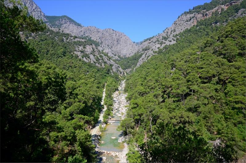 Göynuk Canyon som leden följt i två halvdagar.