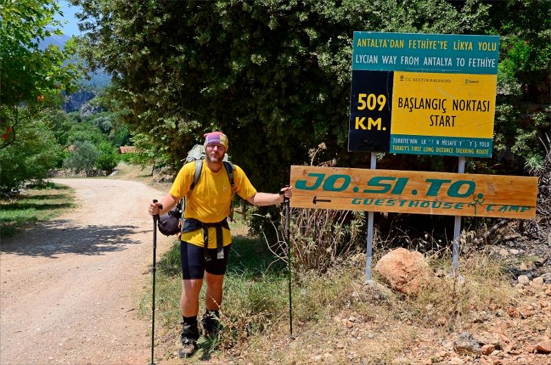 Jag vid målet i Geyikbayiri efter 48 dagar och 423 km.