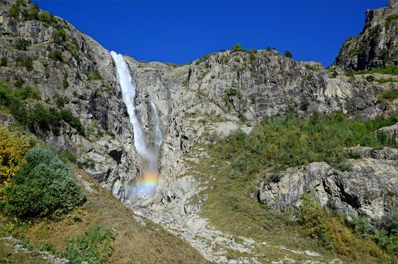 Shdugra Waterfall är Georgiens högsta vattenfall.