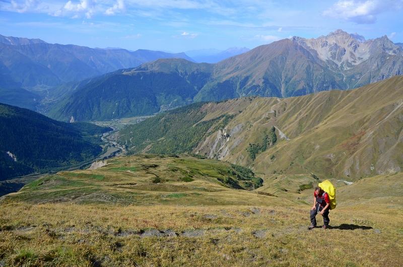 Timo i stigningen strax före Guli Pass.