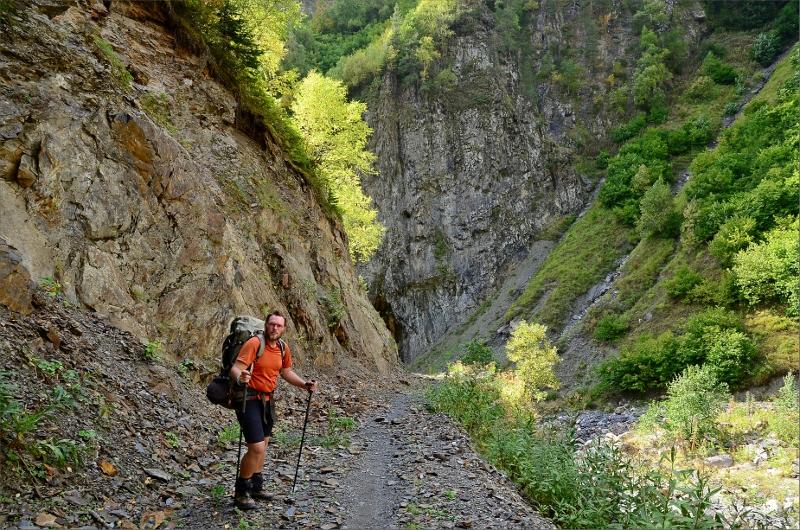Jag i nedre delen av dalen som leder upp till Guli Pass och som vi gått 4 gånger.