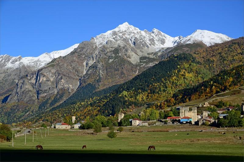 Zhabeshi Village och Tetnuldi.