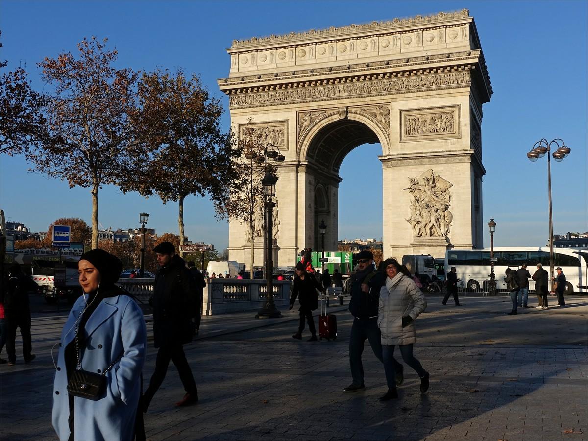 1. Triumfbågen, Paris, Frankrike.