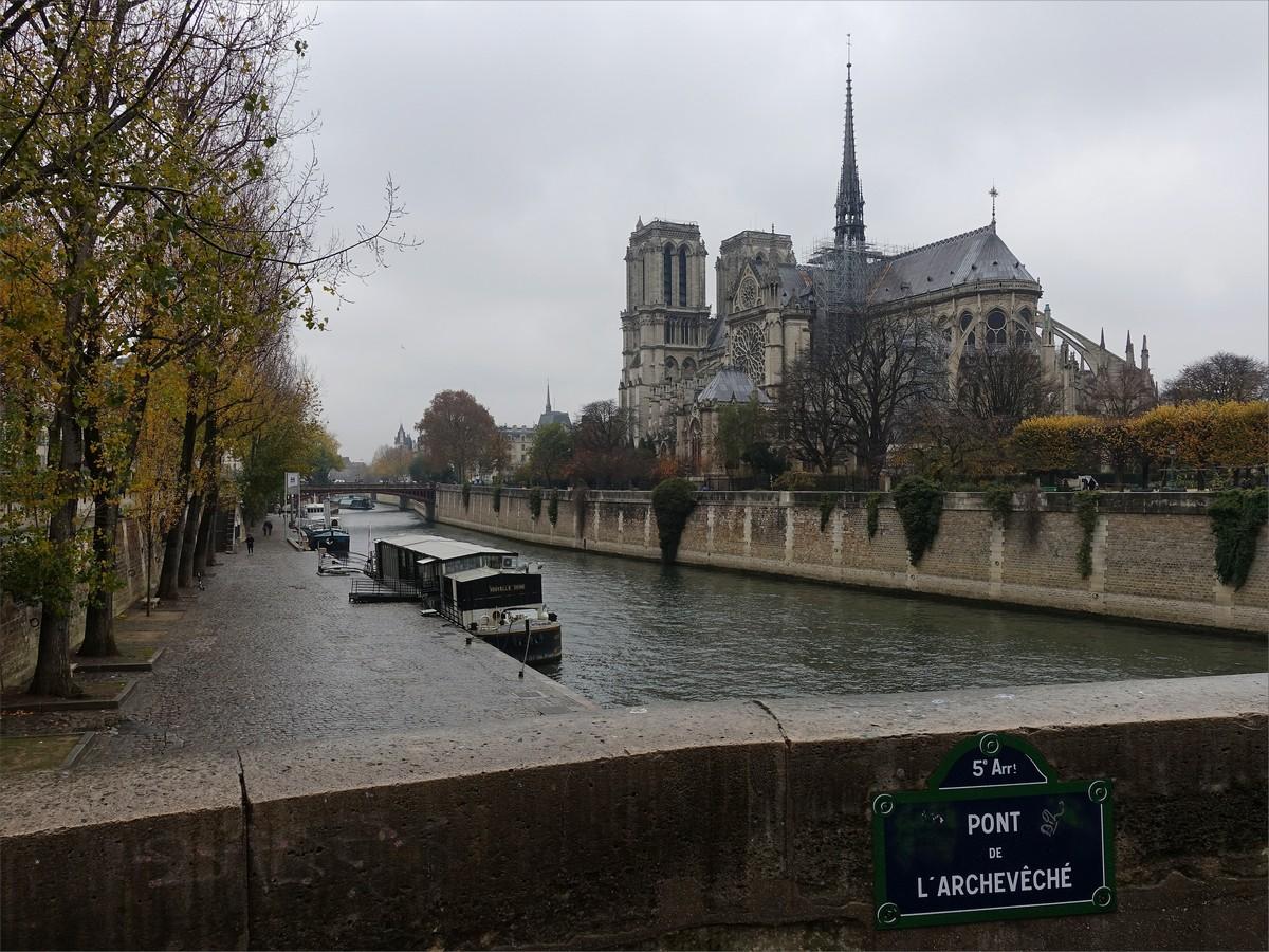 7. Seine och Cathedrale Notre Dame de Paris.