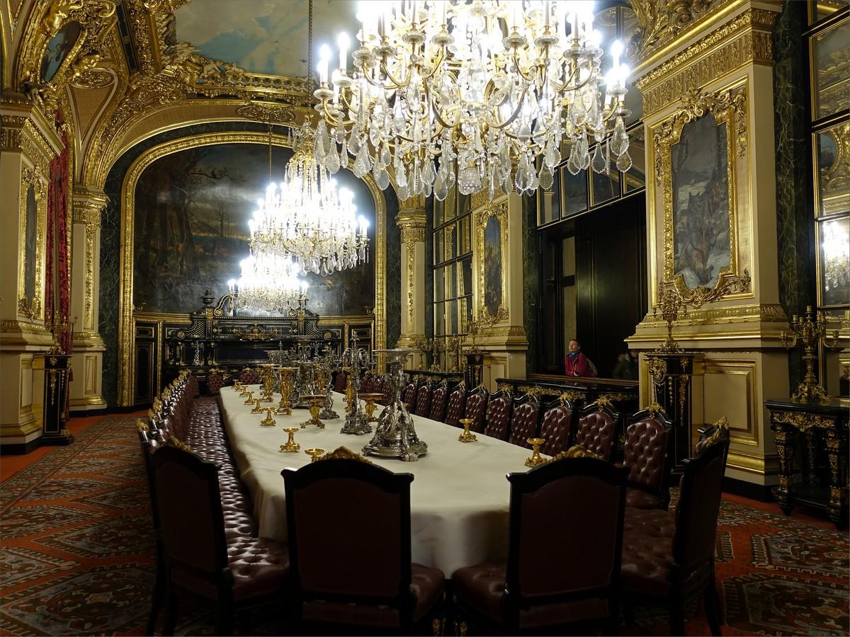 16. Statens matsal i Napoleon III Apartments. Rum 547, Louvre museum.