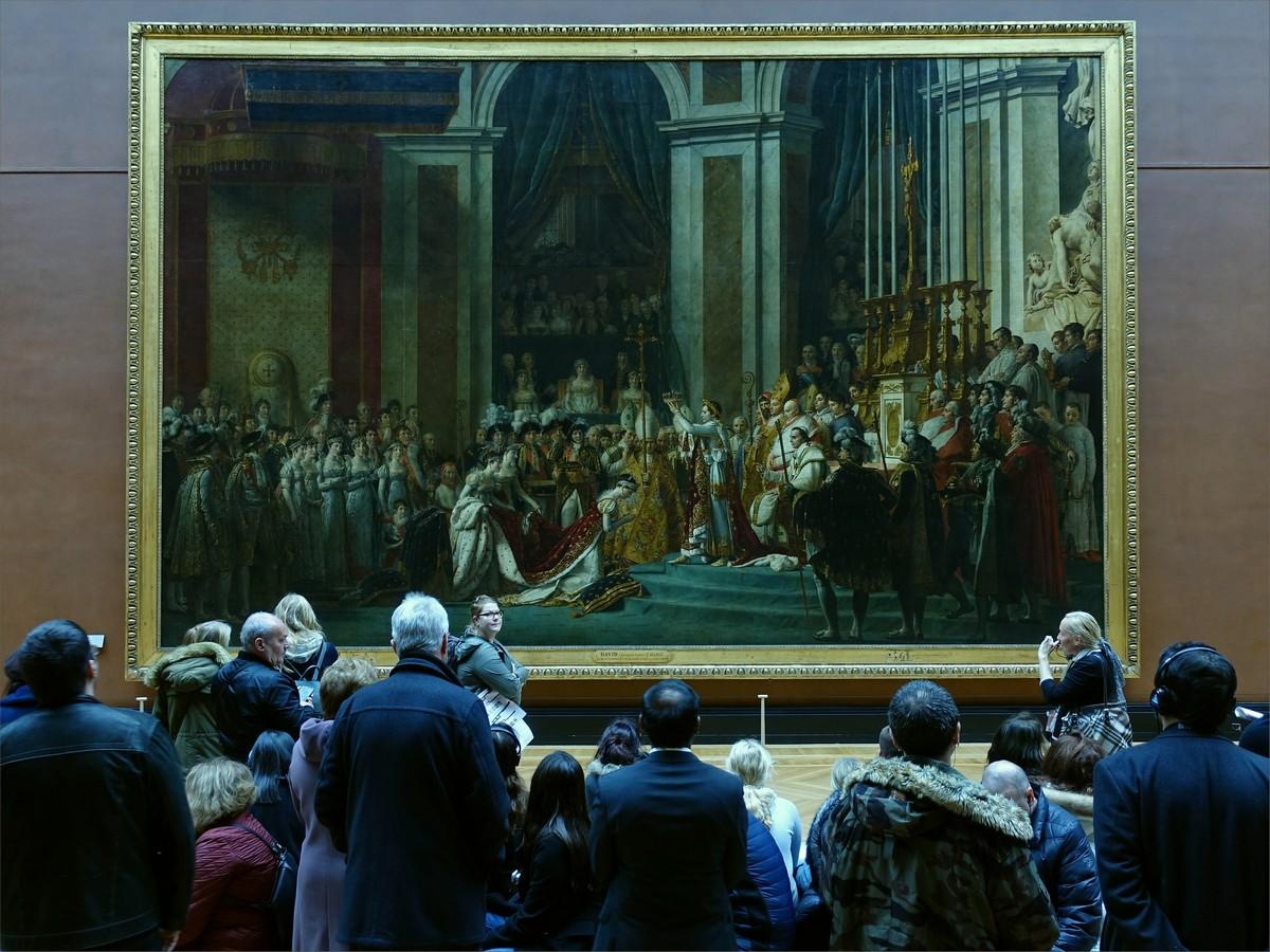 18. Koronationen av Napoleon av Jacques-Louis David. Rum 702, Louvre museum.
